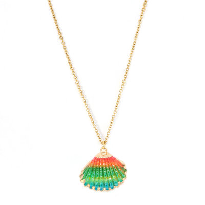 Necklace shell rainbow
