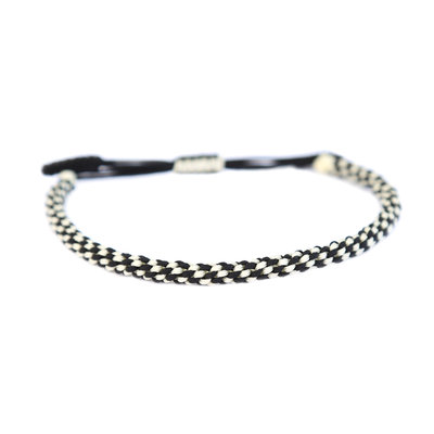Buddhist bracelet black and white