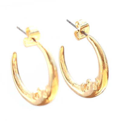 Earrings moon gold