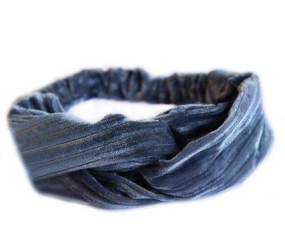 Velvet haarband - Blue
