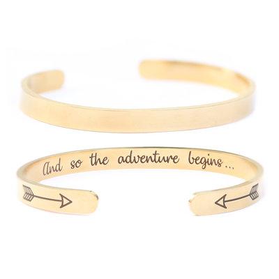 Adventure armband gold