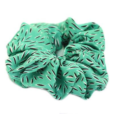 Scrunchie green leaf