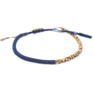 Buddhist bracelet blue multi