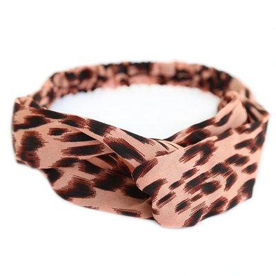 Haarband luipaard rose