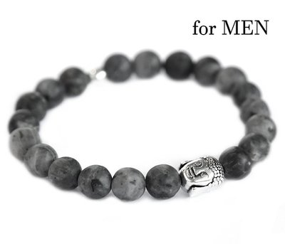 Buddha bracelet Black gemstone for Men