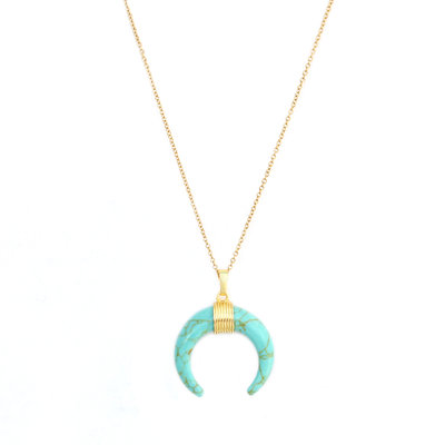 Ketting turquoise bull