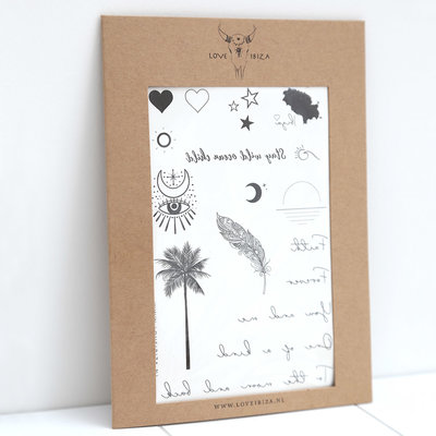 Temporary tattoos by Love Ibiza - limited edition