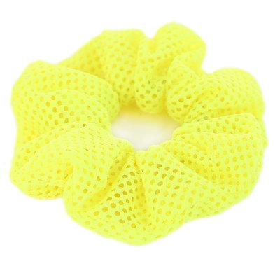 Scrunchie mesh neon yellow