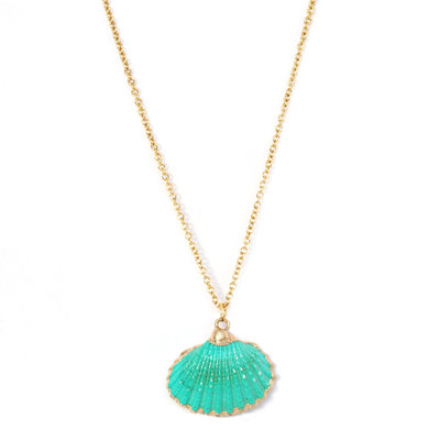 Ketting shell sea green