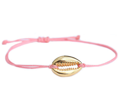 Armband coral gold shell