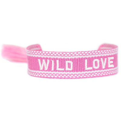Geweven armbandje Wild love