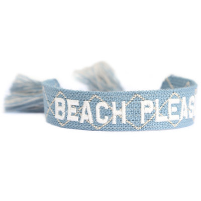 Geweven armbandje Beach please