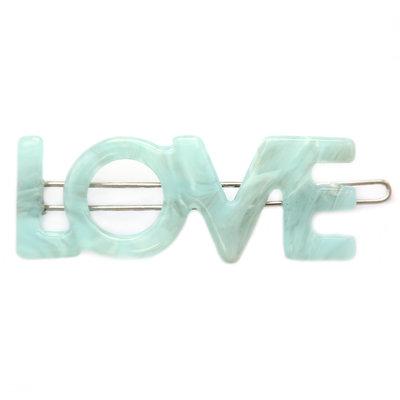 Haarclip Love azure