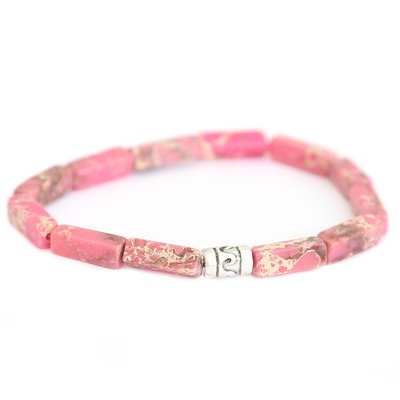 Beachlife armband Roze
