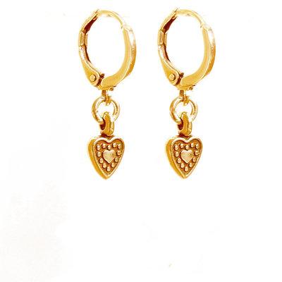 Oorbel - Heart gold