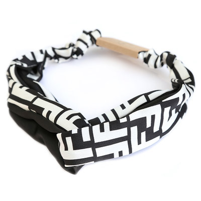 Haarband couture black/white