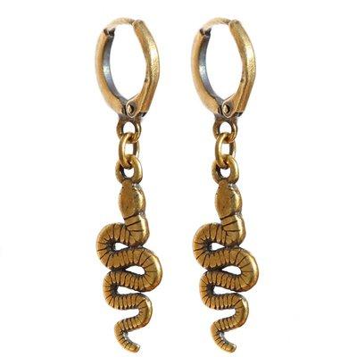 Oorbel - Snake gold