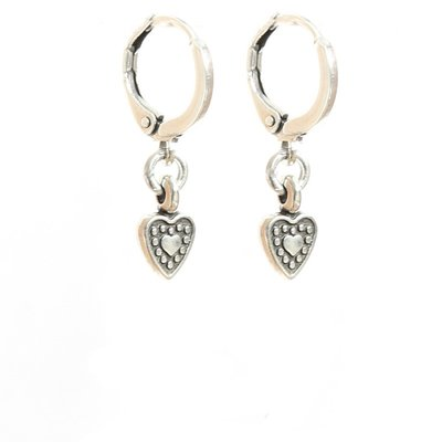 Oorbel -  Heart silver