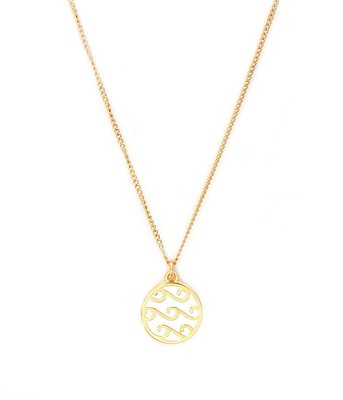 Ketting White waves gold