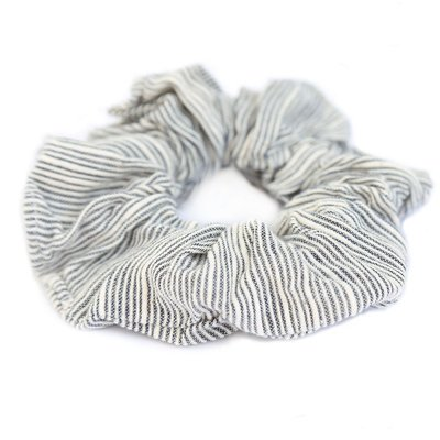 Cotton scrunchie morning stripes