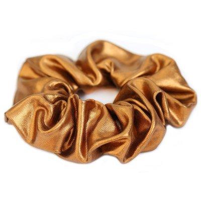 Metallic scrunchie copper
