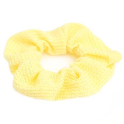 Waffle cotton scrunchie yellow