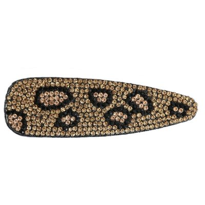 Statement haarclip - Strass Leopard gold