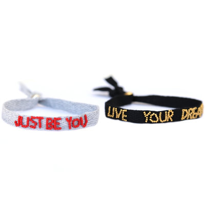 Just be you and Live your dream set of 2 bracelets