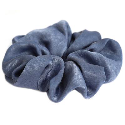 Scrunchie zijde blue