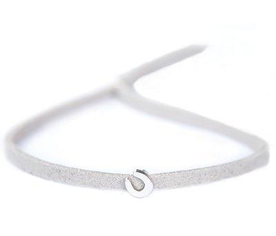 Armband For good luck - light grey