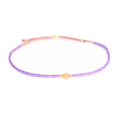 Miyuki armband paars