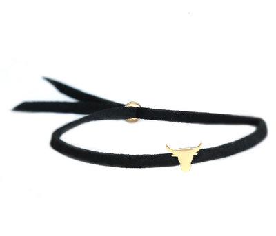 Buffalo armbandje black gold