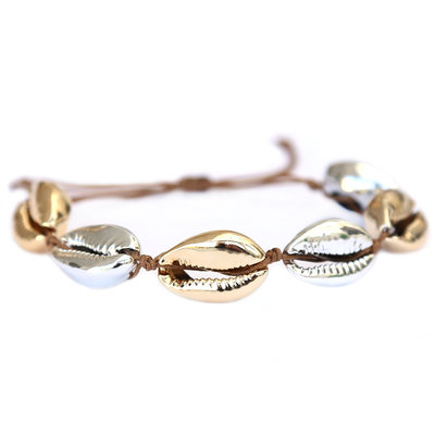 Armband gold silver shell
