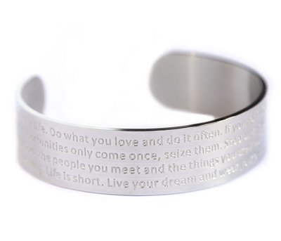 Motivation armband silver