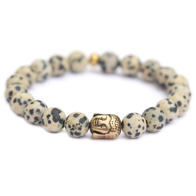 Armband buddha biscuit gemstone
