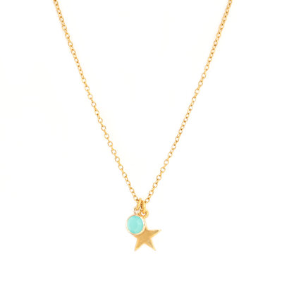 Ketting star blue gold