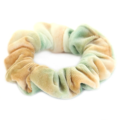 Scrunchie velvet tie dye green
