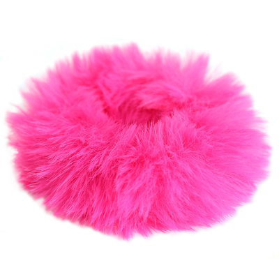 Scrunchie faux fur pink