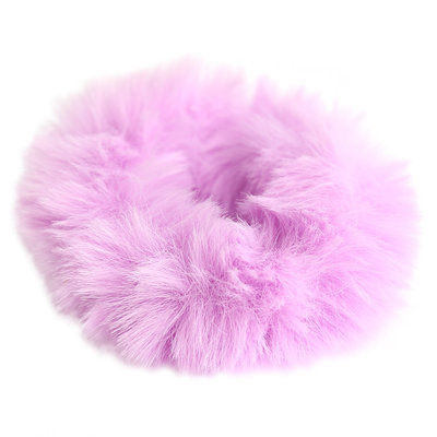 Scrunchie faux fur lila