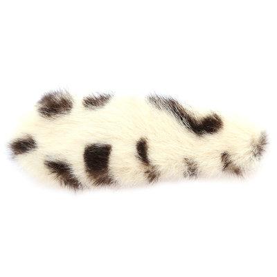 Haarclip faux fur leopard creme