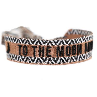 Geweven armbandje To the moon and back