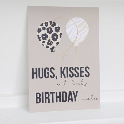 Card - Birthday hugs and kisses