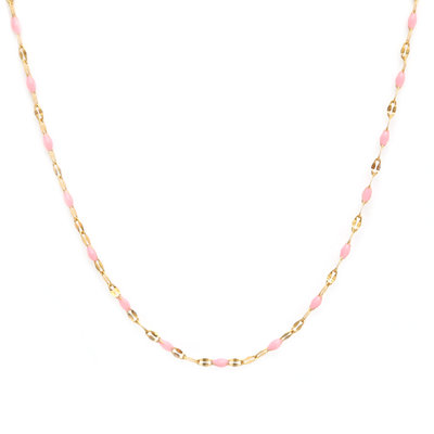 Ketting little chain pink