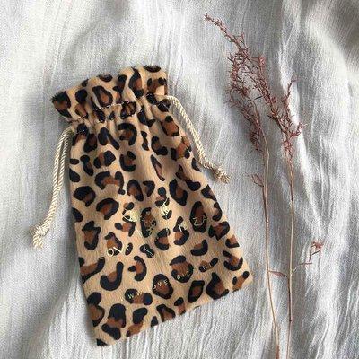 Kado zakje leopard velvet