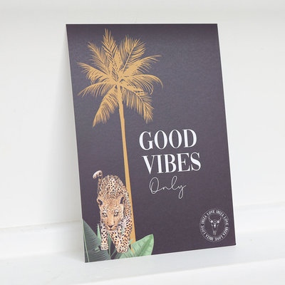 Card - Good vibes only
