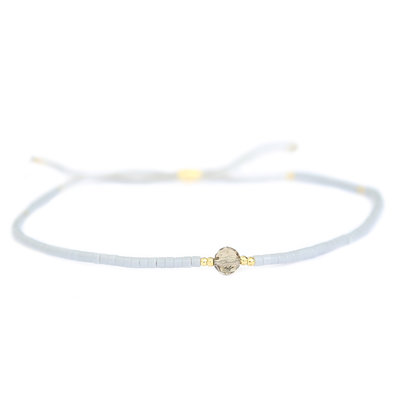Miyuki armband grey
