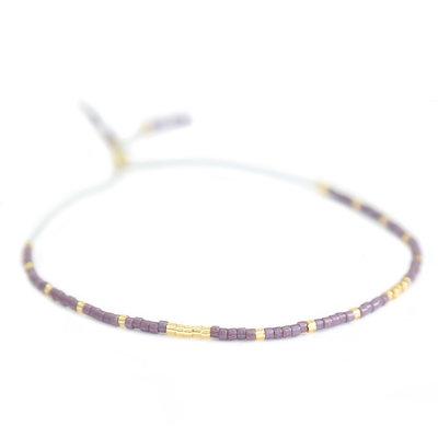 Miyuki armband lila