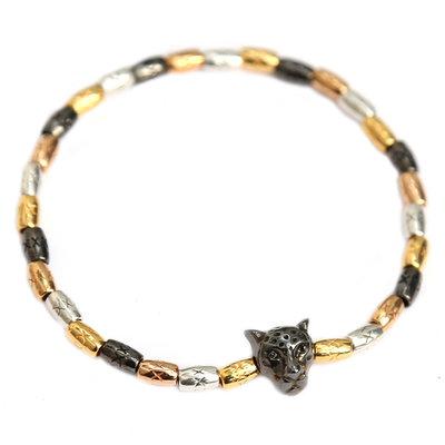 Armband tri color leopard