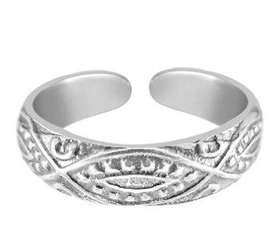 Midi pink ring Inca (echt zilver)