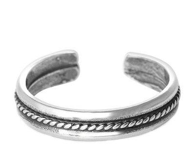 Midi pink ring Chain (echt zilver)